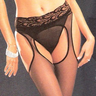 Sheer Lycra Suspender Pantyhose
