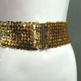 Stretchy Gold Sequin Belt