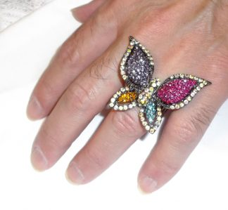 Colourful Butterfly Ring