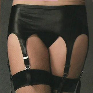 6 Garter Rubber Look Garter Belt