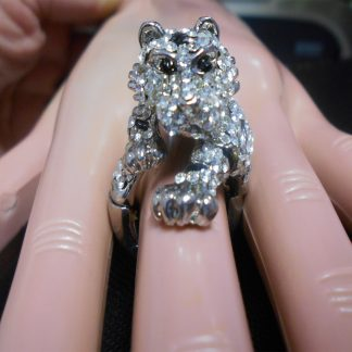 Rhinestone Tiger Ring