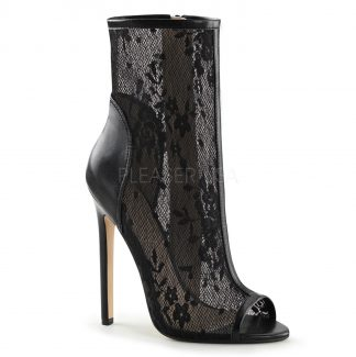 Sexy Lace Ankle Boot with side zip
